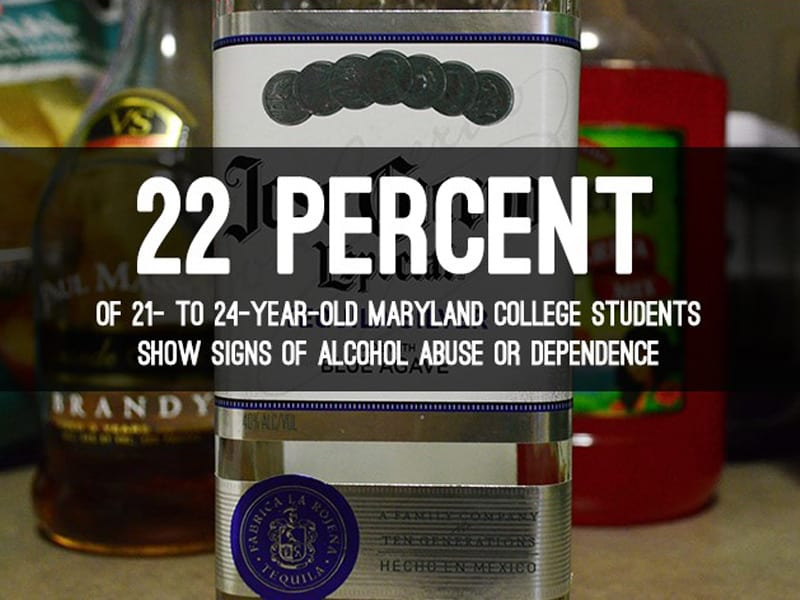 Nearly 1 in 5 Underage Maryland College Students Have Alcohol Problems