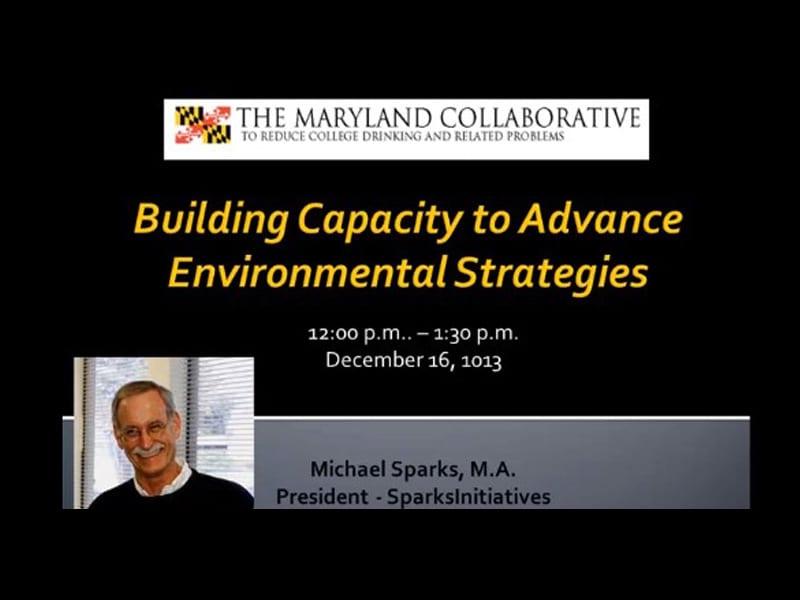 Building Capacity to Advance Environmental Strategies
