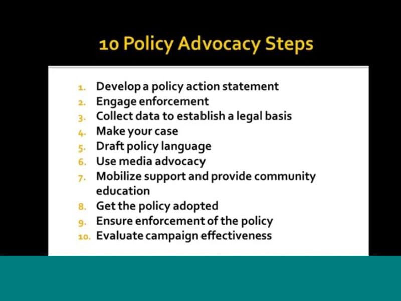 10 Steps to Policy Change