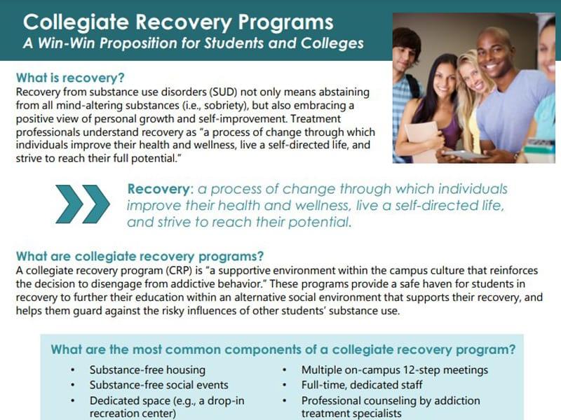 Collegiate Recovery Program