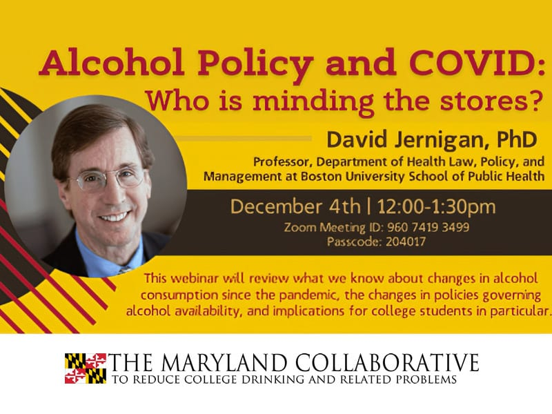 Alcohol Policy and COVID Webinar
